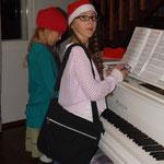 .. udn die beiden zusammen Klavier gespielt