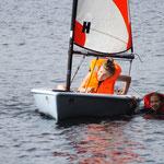 Kaisa versucht (!) zu segeln :DD
