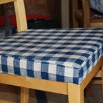 housse de chaise en tissus à plate-bande