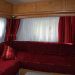 banquettes et rideaux camping-car