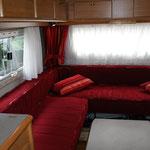 banquettes, rideaux et coussins camping-car