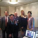 中村さん(副会長)、山口さん(副会長)、梅津先生(元会長)、ジョディさん、岩波さん(会長)