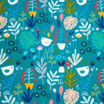 Oiseaux bleus - sweat léger
