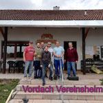 Vordach Vereinsheim 2019