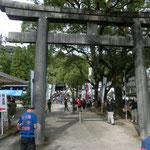 徳重神社に到着。鳥居前。