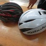 我らの頭を守ってくれる「OGKカブト」のヘルメット。 この日は、サイクリストの防護用武具として使用しました。