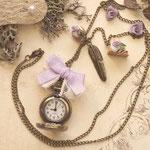 Uhr-Kette Floral No.: uf02#(offen).