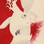 tagesbefindlichkeiten 12 - FISCHLEIN, VERSTECK DICH! / 21 x 30 cm / 2013 / tusche, bleistift, buntstift auf papier
