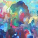 farblust 1 - IN GEDANKEN / 60 x 90 cm / 2015 / acryl auf leinwand