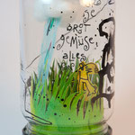 KUNSTimBISS / EINmachGLAS - ... alles von der wiese / 2016 / mischtechnik auf und im einmachglas
