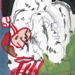 WEISHEIT / 15 x 23 cm / 2014 / mischtechnik auf papier