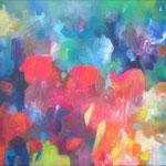 farblust 10 - DER MISSGLÜCKTE VERSUCH, DIE FARBEN EINZUFANGEN / 90 x 60 cm / 2016 / acryl auf leinwand