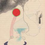 tagesbefindlichkeiten 1 - SOGAR DAS ROT WEICHT ZURÜCK / 21 x 30 cm / 2013 / mischtechnik auf papier