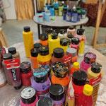 Aussuchen der warmen und kalten Farben