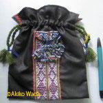 15.織り紐付ききんちゃく袋