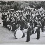 La banda dei marinaretti con il Maestro Silvio Bonometti. 1939