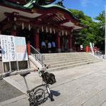 富岡八幡宮と愛車
