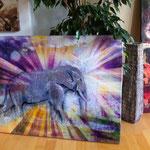 """""""Reite den grauen Elefanten"""", Digitalkunst"""
