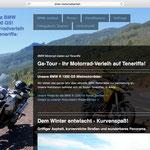 Noleggio di moto - design del sito web