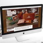 Federkielstickerei Xander, pelletteria e ricamo su pelle - design e realizzazione sito web