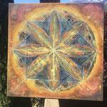 """""""Ottagono"""", pittura acrilica su tela"""