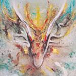 """""""Erinnerungen an Avalon"""", 90x110cm, Unikat, Acryl und Druck auf Leinwand"""