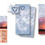 Visitenkarte, Einladung und Faltblatt