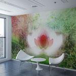 """""""Essenza"""", pezzo unico, arte digitale, applicazione su parete"""