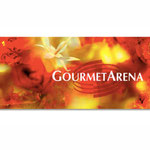 """""""Gourmetarena"""", Merano Winefestival, Alto Adige - banner per padiglione"""
