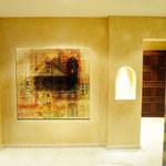 """****Hotel Quellenhof deluxa, Val Passiria, Alto Adige - decorazione pareti per sauna """"Hamam"""""""