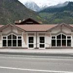 Bikestore, Val Venosta - decorazione della facciata