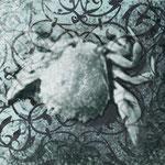 """""""Segno zodiacale cancro, arte digitale, stampa su tela, 50x40 cm"""