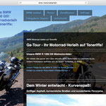 Motorradverleih, Design der Website