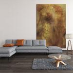 """""""Sirena"""", arte digitale, applicazione su muro"""