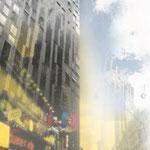 """""""New York"""", Digitalkunst, Druck auf Canvas, 40x100 cm"""