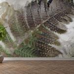 """""""Felce"""", arte digitale, applicazione su parete"""