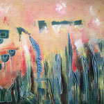 """""""Il giardino della fata"""", pittura acrilica su tela"""