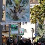 Installation in der Fußgängerzone, Lana (Foto: Martin Geier)