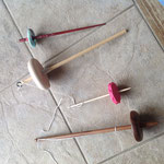 ドロップスピンドル各種 天然石やレジンなどで手作りされたスピンドルを集めました。