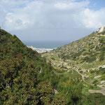 Karmel Gebirge Blick zum Meer
