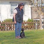 Nana in der Hundeschule