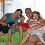 Familie Kaler mit Lanzelot