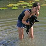 Erste Schwimmstunde in der Lobau | Nanna mit Lenchen