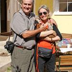 """Judith und Alain mit Nikita """"Daisy"""" aus Frankreich"""