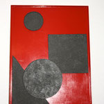 GEOMETRIE - 2014 - MDF, lackiert, Eisenfeilspäne