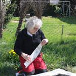 """Aufbau der Installation """"urban gardening"""" 2016"""