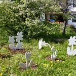 """Skulpturengruppe """"Blumenwiese"""" - Marmor - 2016"""