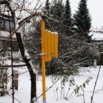 halbseitiger Engel, Holz, Lack, 2014