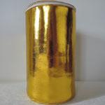 Necessaire aus goldbeschichtetem Lederimitat, Höhe 20cm
