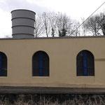Fördermaschinenhaus. Der Lüfter wurde nachträglich von der Grube Oranje Nassau I(Heerlen) erworben